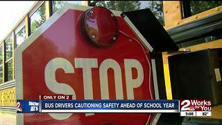 Bus drivers cautioning safety ahead of 2018-19 school year - Video