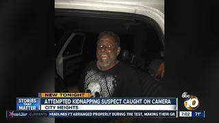 Attempted kidnapping suspect caught on camera - Video