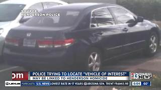 Henderson police believe car may be connected with suspicious death - Video