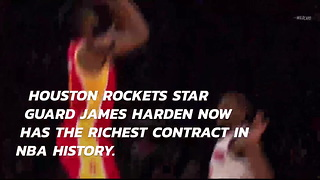 James Harden just became the richest athlete in the NBA - Video