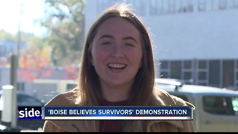 Students speak out on sexual assault in 'Boise Believes Survivors' demonstration