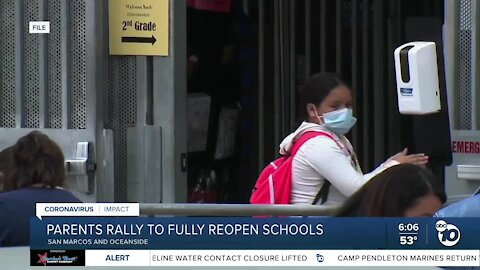 Parents rally to fully reopen schools