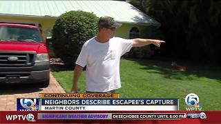 Neighbors react to escapee being captured in their neighborhood - Video
