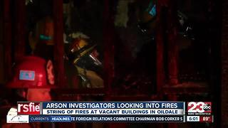 Arson investigators are looking into string of fires sparked in same day in Oildale - Video