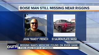 Search continues for missing Boise man, medical items located on banks of Salmon River - Video