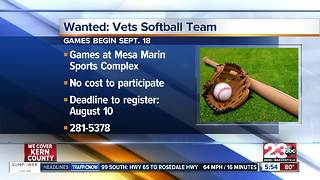 Local veterans are invited to join softball team - Video