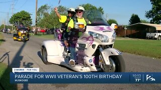 Parade for WWII veteran's 100th birthday