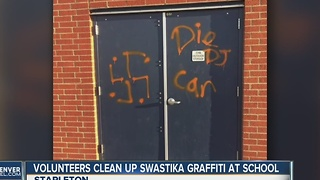 Denver elementary school defaced with swastika - Video