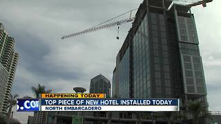 New Embarcadero hotel construction hits major milestone - Video