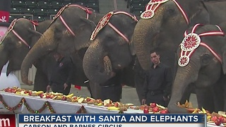 Breakfast WIth Santa And Elephants - Video
