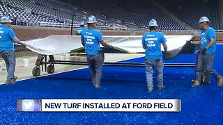 New turf installed at Ford Field