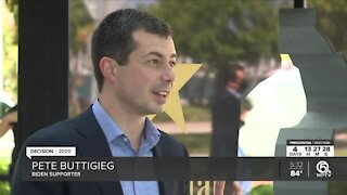 Pete Buttigieg campaign for Joe Biden in West Palm Beach