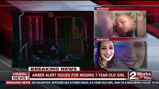 Amber Alert issued for missing 7-year-old girl