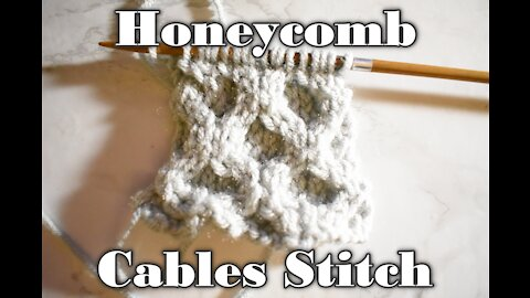 How to Knit the Honeycomb Cable Stitch