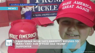 California Mom Says Bakeries Refused To Make Cake For 9-Year-Old Trump Supporter - Video