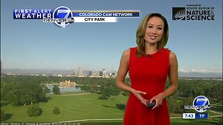 Mostly sunny and very warm Sunday