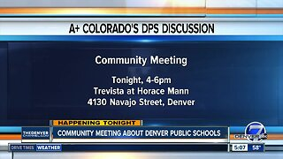Community meeting about Denver Public Schools