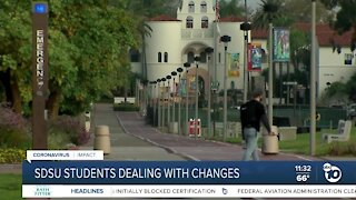 SDSU students dealing with pandemic-related changes