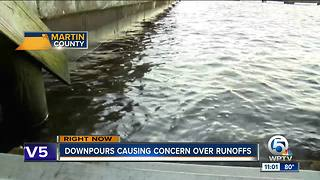 Downpours causing concern over runoffs
