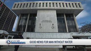 Cleveland man without running water for a year gets good news