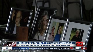 Candlelight vigil in honor of synagogue shooting victims