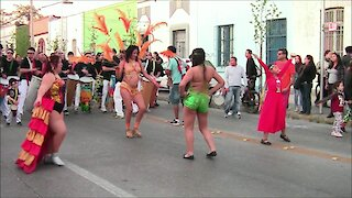 Bolivian dance and music in Santiago, chile