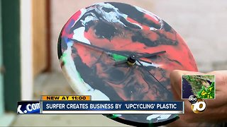 San Diego surfer turns recycled plastics into useful products