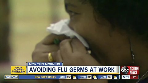 Best ways to avoid catching the flu at work