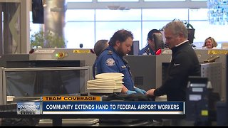 Community extends hand to federal airport employees during shutdown - Video