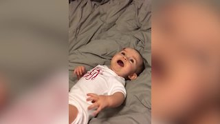 Baby has THE CUTEST Giggle - Video