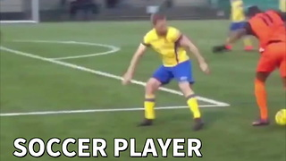 Soccer Player Breaks 4 Ankles On Way To Goal - Video