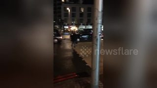 Black cab drivers demo causes traffic chaos on London streets - Video