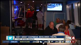 Key West Express resumes trips - Video