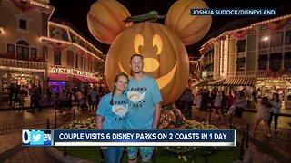 Tennessee couple visits 6 Disney parks on 2 coasts in 1 day - Video