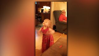 Baby Is Delighted By Bubbles - Video