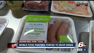 Mobile pantries forced to move inside because of extreme cold temperatures - Video
