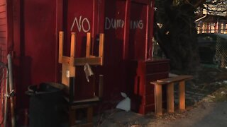 Debris from gutted homes contribute to illegal dumping in West Baltimore