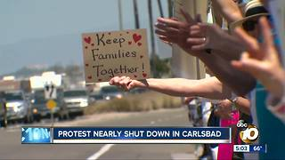 Carlsbad Immigration protest almost gets shut down - Video