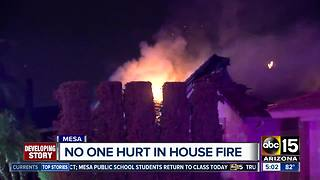 House fire destroys home in Mesa