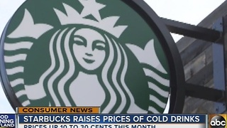 Starbucks raises prices of cold drinks - Video