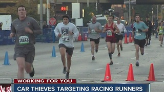 Thieves targetting cars of people running in races
