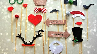 DIY Christmas party props - Video