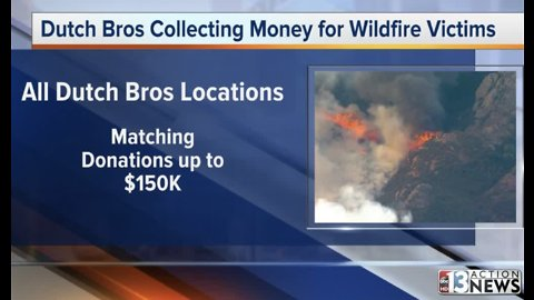 Dutch Bros raising funds for California fire relief efforts