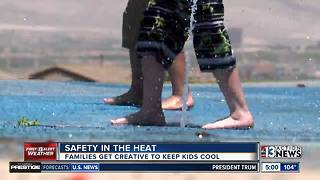 Families keep kids safe in summer sun - Video