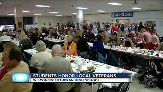 Wisconsin Lutheran H.S. students honor local military veterans - Video