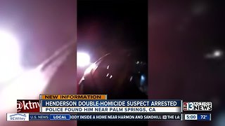 Suspect in Friday Henderson double homicide shot by deputies in California