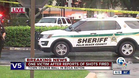 One victim injured after reports of shots fired at Town Center Mall in Boca Raton