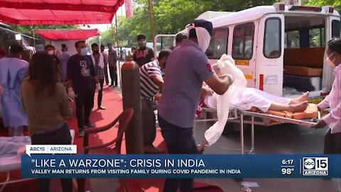 Valley man describes conditions in India after returning to U.S.