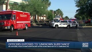 PD: 6 officers, 4 others hospitalized after exposure to unknown substance