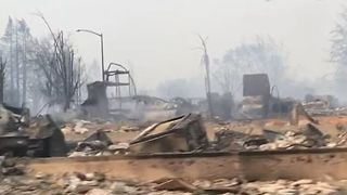Wildfire Destroys Santa Rosa Neighborhood - Video